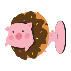 Digital Energy Phone Suction Stand PigDoughnut