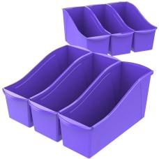Storex Book Bins Medium Size Purple