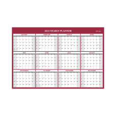 Blue Sky Monthly Laminated Calendar 24