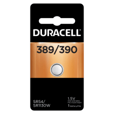 Duracell Silver Oxide 389390 Button Battery