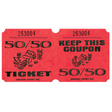 Amscan 5050 Ticket Roll Red Roll
