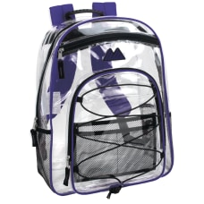 Trailmaker Water Resistant Clear Backpack Purple