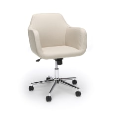 Essentials By OFM Upholstered Mid Back