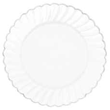 Amscan Scalloped Premium Plastic Plates With