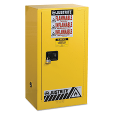 Yellow Countertop Compact Cabinets 15 Gallon