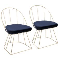 LumiSource Canary Dining Chairs GoldBlue Set
