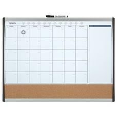 Quartet Calendar Magnetic Dry Erase Whiteboard