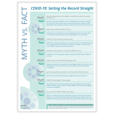 ComplyRight Coronavirus COVID 19 Poster Myth