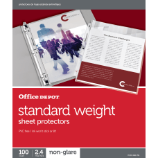 Office Depot Standard Weight Sheet Protectors