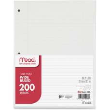 Mead Notebook Filler Paper Wide Ruled