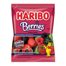 Haribo Raspberry Gummies 5 Oz Pack