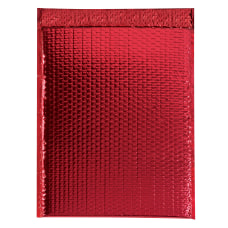 Partners Brand Red Glamour Bubble Mailers