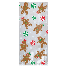 Amscan Gingerbread Christmas Treat Bags 11