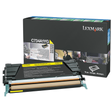 Lexmark C734A1YG Yellow Return Toner Cartridge