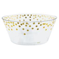 Amscan Metallic Dots Plastic Serving Bowls