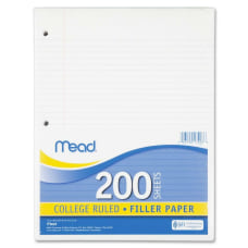 Mead Notebook Filler Paper Letter 200