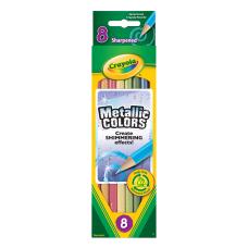 Crayola Metallic Color Pencils Assorted Colors