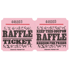Amscan Raffle Ticket Roll Pink Roll