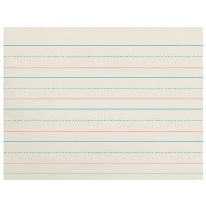 Zaner Bloser Newsprint Handwriting Paper Dotted