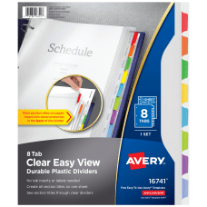 Avery Clear Easy View Plastic Dividers