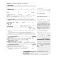 Vaccine Patient Intake Forms COVID 19