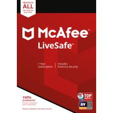 McAfee LiveSafe Unlimited Devices Antivirus Internet