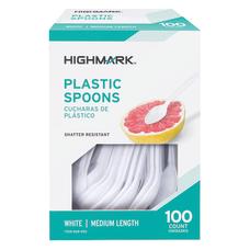 Highmark Medium Length Plastic Cutlery Spoons