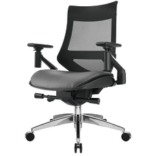 WorkPro 1500 Bonded Leather Mid Back