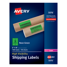 Avery High Visibility Shipping Labels AVE5976