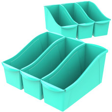 Storex Book Bins Medium Size Teal