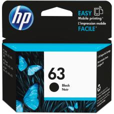 HP 63 Black Ink Cartridge F6U62AN