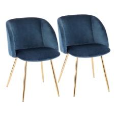 LumiSource Fran Dining Chairs BlueGold Set