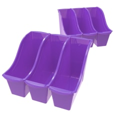 Storex Book Bins Medium Size Purple