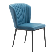 Zuo Modern Tolivere Dining Chairs BlueBlack