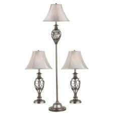 Kenroy Home Cerise Lamp Set Tan