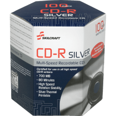 SKILCRAFT 52X CD R Thermal Printable