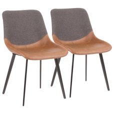 LumiSource Outlaw 2 Tone Chairs BlackBrownGray