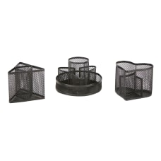 Mind Reader Metal Mesh Desk Organizer
