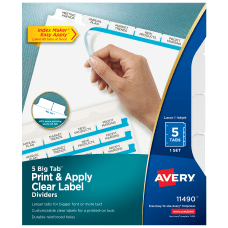 Avery Index Maker Big Tab Clear