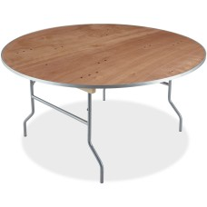 Iceberg Natural Plywood Round Folding Table