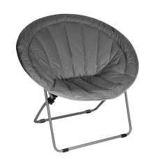 Brenton Studio Papasan Plush Chair Gray