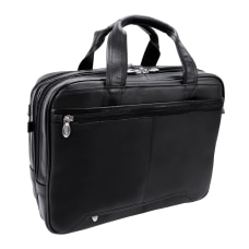 McKlein Pearson Leather Briefcase Black