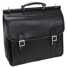 McKlein Halsted Leather Briefcase Black