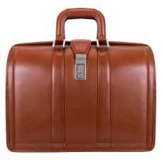 McKlein Morgan Leather Briefcase Brown