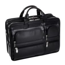 McKlein Hubbard Leather Briefcase Black