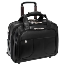 McKlein Chicago Wheeled Leather Laptop Case