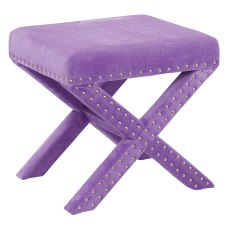 Office Star Accents Katie Bench Purple