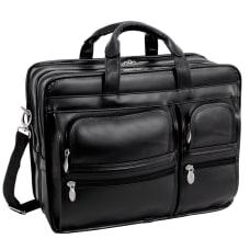 McKlein Clinton Detachable Wheeled Leather Laptop