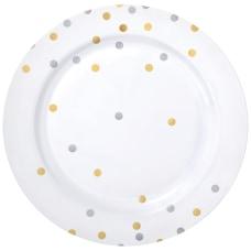 Amscan Confetti Premium Plastic Plates 10