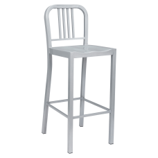 Lorell Metal Bistro Chairs Silver Set